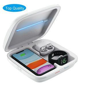 Freies Verschiffen US Neue multifunktionale UV-Sterilisator-Box mit Wall Wireless-Ladegerät Desinfektionsbox für Handy-LED-Sterilisationsbox