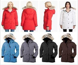 HOT Luxury Canada Brand Winter Women Jacket 95% White Goose Parkas Long Fur Collar Hooded Outerwear Windproof Warm Down Coat 89