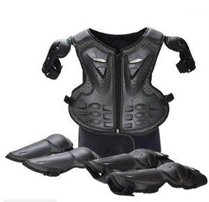 Гоночные наборы Черные молодые дети дети полное тело защищает броню дети мотокросс от Road MTB DH MX куртка жилет грудной защиты от позвоночника Gear1