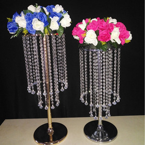 Sale by Bulk Sparkling Crystal Clear Garland Chandelier Wedding Flower Ball Holder Birthday Party Table Top Centerpieces