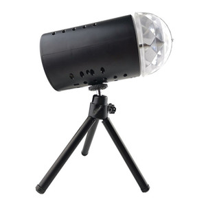 EU 220V 3W Full Color LED Crystal Voice-Activated Rotating RGB Stage Light DJ DJ Lamp Lampada spedizione gratuita 102 N2