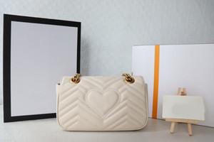 2021 Verkauf von stilvollen Echtleder Frauen Luxus Tasche Designer Top Qualität Single-Umhängetaschen Taille Klassischer Brief Schlüsselanhänger Handtasche