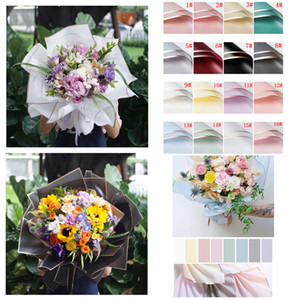 Flower Wrapped Paper 20pcs Pack Christmas Wedding Valentine Day Waterproof Bronzing Flower Gift Wrapping Paper 58*58cm CYF4556