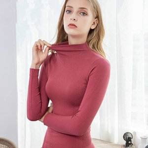 Thermal Set Warm Thermal Underwear Sexy Ladies Intimates Long Johns Women Shaped Sets Female Middle Collar Thermal Shaping Clothes