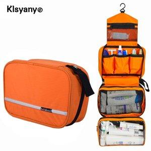 Klsyanyo multifuncional impermeable compacto colgante de la bolsa de viaje cosmética de la bolsa de lavado de la bolsa de lavado de la bolsa de lavado