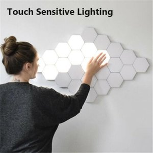 LED Wall Lamp Quantum Lamp Modular Touch Sensitive Hexagonal Smart Night Light sconces For DIY Modern Home Decoration Lighting