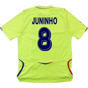 Rétro Lyon 2008/09 Soccer Jerseys Benzema Juninho Ederson Pjanic Kit Vintage Futbol Kit classique Shirt de football classique