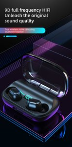 2021 Bluetooth Headset Wireless Headphones Sport Mini Earphone Stereo Sound In Ear IPX4 Waterproof TWS 5.0 Power for Android Ios