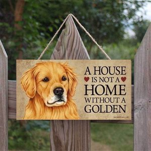 Dog Tags Rectangular Wooden Pet Dog Accessories Lovely Friendship Animal Sign Plaques Rustic Wall Decor Home Decoration DDC2145