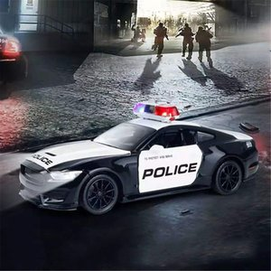 Friction Powered Police Car 1:16 Kids Plastic Toy Rescue Emergency Cop Vehicle with Lights Z1202