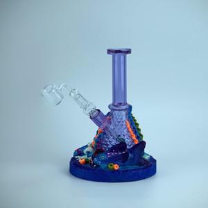 Ocean Charm Bong Cokah / EMS Безопасная и быстрая доставка / 14 мм Слайд / / Блестящий эффект фильтрации воды / Превосходный Опыт курения / Изготовленный на заказ / Художественный вид