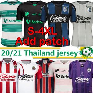 4XL Liga MX 2020 2021 축구 유니폼 Camisetas de Fútbol Club Santos Laguna DePortivo Guadalajara Chivas Queretaro FC 남자 키트 축구 셔츠