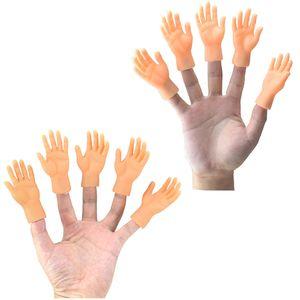 Yenilik Komik Beş Parmak Açık avuç içi ve parmaklar küçük el modeli etrafında oyuncaklar kümesi Cadılar Bayramı hediye oyuncaklar