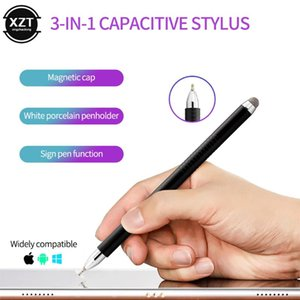 3 in 1 Multi-function Touch Screen Pen Universal High Precision Capacitive Stylus Magnetic Pen Cover for Phone Tablet