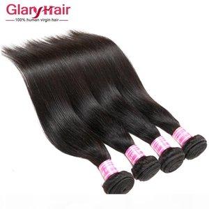 Spring New Feating Feave Weave Styles 8A Оптовая цена Перуанское Малайзийское Прямое Бразильское Плетение Волос Пучки Remy Человеческие Удлинения волос