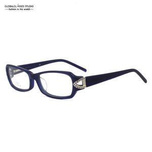 Classic Design Style Very good-looking Dark Blue Frame Dark Blue Leg For Male Female Optical Eyeglasses Frame YZ020