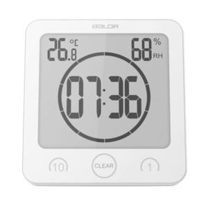 Baldr LCD Digital Waterproof Water Splashes Bathroom Wall Clock Shower Clocks Timer Temperature Humidity Kitchen Washroom Timers 201202