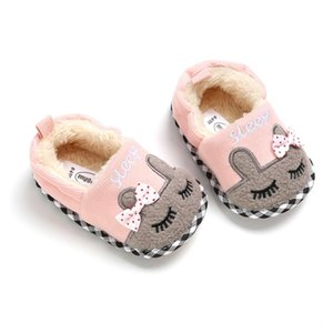 2020 Autumn Winter Baby Girls Boys Bow First Walk Breathable Anti-Slip Casual Plus Velvet Toddler Shoes