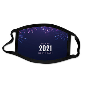 2021 Mask New Year Face mask cotton print adult waterproof washable cloth mouth mask 7 styles Happy New Year CCA2454