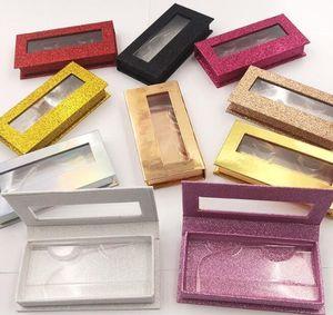 Pink Blue Gold Red Wholesale Square False Eyelash Packaging Box Fake 3d Mink Eyelashes Boxes Faux Cils Magnetic Cas jllRvL yummy_shop