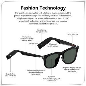 E9 Smart Bluetooth Gafas llamadas Teléfono Gafas de sol Toque Auriculares Bluetooth Headset Estéreo Auriculares Juego Control de voz Reproductor de música Player TWS