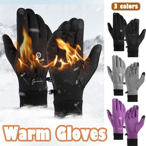 Unisex Touchscreen Winter Thermal Fleece Warm Cycling Bicycle Ski Outdoor Camping Hiking Motorcycle Gloves Sports Full Finger