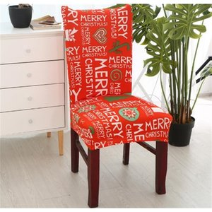 Christmas Covers Spandex Chair Stretch Elastic Dining Seat Cover for Banquet Xmas Decoration