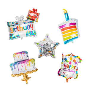 Laser Birthday Balloon with Aluminum Coating , Party Accessories, Assorted Color S00942