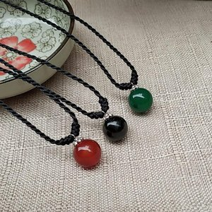 Simple Natural Stone Pendant All-Match Necklace Fresh And Fashion Short Necklace His-And-Her Gift Free Shipping