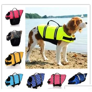 Pet Dog Doggy Life Gook Life Life Vest Saver Preserver Светоотражающая кость в горошек, в горошек, узор из нейлона неопреновая наружная гончая по размеру водный CU0JK