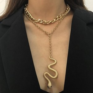 Punk Pedant Necklace for Women Gold Color Cuban Link Neck Chains Choker Necklace Gothic Accessories Jewelry Couples Collar1