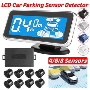 Car Parking Sensor LCD Sensors System Anti-scratch Angle Monitor Detector Sound Alert Parktronic Parking Reversing Radar Monitor
