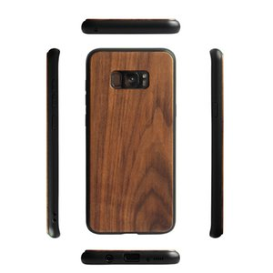 4dacase High quality bamboo and wood mobile phone shell with TPU protective cover For Samsung S8 S9   s8pluscx