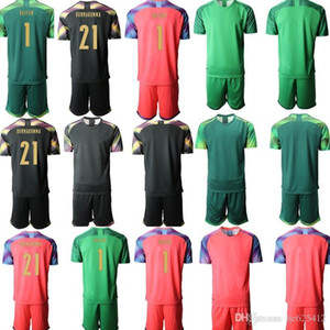 Custom Italy goalkeeper 1 buffon 21 DONNARUMMA Kids Football Kits 2020 European Cup Short Sleeve Soccer Jerseys Children camisa de futebol