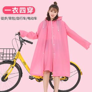 Transparente impermeable Cortavientos Mujeres Reutilizable Motocicleta Impermeable Caper Camo Mojado Mojo Engranaje Veste Pluie ImpermeCoat EB50YY