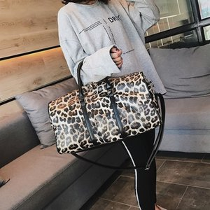 2020 new's fashion luxury Foldable Travel Bag Women Large Capacity Portable Shoulder Duffle Bag Leopard Waterproof Weekend Luggage Tote O7