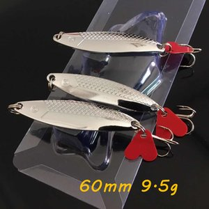 1pc Silver Spoons Metal Baits & Lures 60mm 9.5g Fishing Hooks 6# Hook Pesca Fishing Tackle KL_IU7