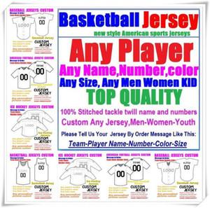 Пользовательские баскетбольные бейсбольные хоккей в хоккею американский футбол для мужчин Женщины молодежь College Color Maillot de France Jersey Rush 4XL 5XL 6XL