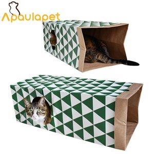 Apaulapet Washable Kraft Papel Pet Túnel Brinquedos Cat Play Paper House Pet fornecedor para gatos