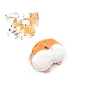 Hot 15cm Cute Cartoon Corgi Butt Ass Coin Purse Bag Wallet Children Pet Dog Plush Doll Toys Gift for Kids