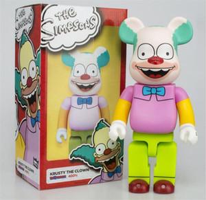Best-Selling 400% 28cm Les Simpsons Bearbrick Simpsons Évolez la colle Bear Figurines jouets pour Collectionneurs Be @ rbrick Art Travail Modèle Decoration Jouets