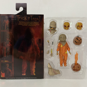 Trick R Treat Figure Sam Clothed With Bag & Lollipop Halloween 2007 Classic Film Movie NECA Figures Model Toy Doll Gift Z1120 Z1120
