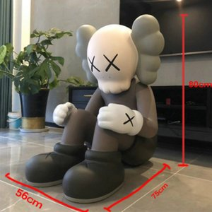 ON Sell Free shipping Giant mand kaws Hand made model of super door god doll PVC figura de Kaws Original Fake action Figures Decoration