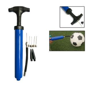 "10"" Portable inflator Air Pump for Basketball Football Yoga Volleyball Ball Blue"