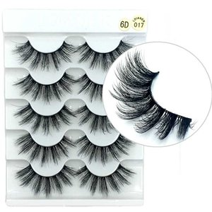 QUXINHAO 5 pairs Thick Wispy Fluffy Long Lashes Nature Eye Makeup Tools Faux Eye Lashes make up Beauty Tools