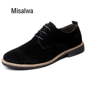 Misalwa Over Size Camurça Men Moara de couro Casual Homens Sneakers Classic Brogue Formal Oxfords Homens Flats Plus Size LJ201202
