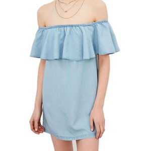 womens sleeveless sling pullover slim loose denim dress female 6YO2NGDYdd