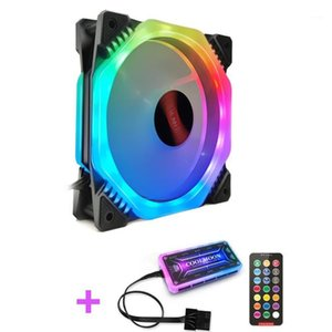 Coolmoon 120mm 6Pin PC Cooling Fan Multilayer Backlight Adjustable RGB Light Silent Computer Cooler Cooling Fan For CPU1