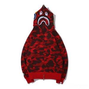 Lo más nuevo Lover Camo Tiburón Imprimir Sweeater de algodón sudaderas con capucha Casual Púrpura Púrpura CAMO CAMO CARDIGAN CAPUCHA CAMPO CAMPIA TAMAÑO M-2XL