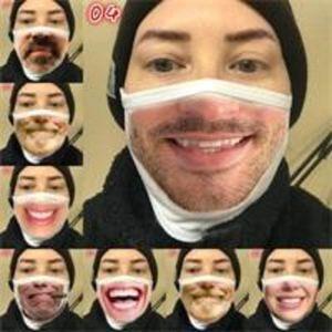 Moda Komik Earloop Anti Haze Koruma Ağız Yüz Maskarik Sakal Kullanımlık Nefes Solunum Diş Bezi Pamuk Maske Mg Adam Kadın BRKJ